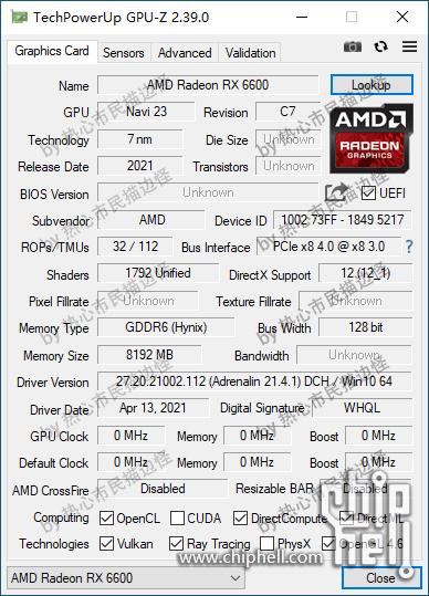 Утечка характеристик AMD Radeon RX 6600 XT и RX 6600