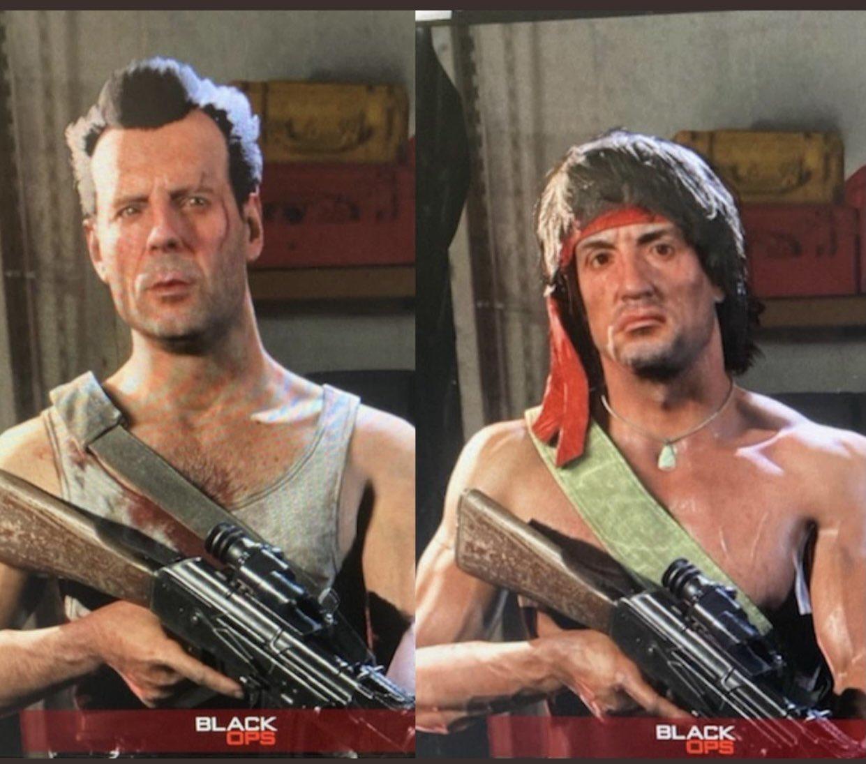 Утечка: Скины Рэмбо и Джона Макклейна в Call of Duty: Warzone и Black Ops Cold War