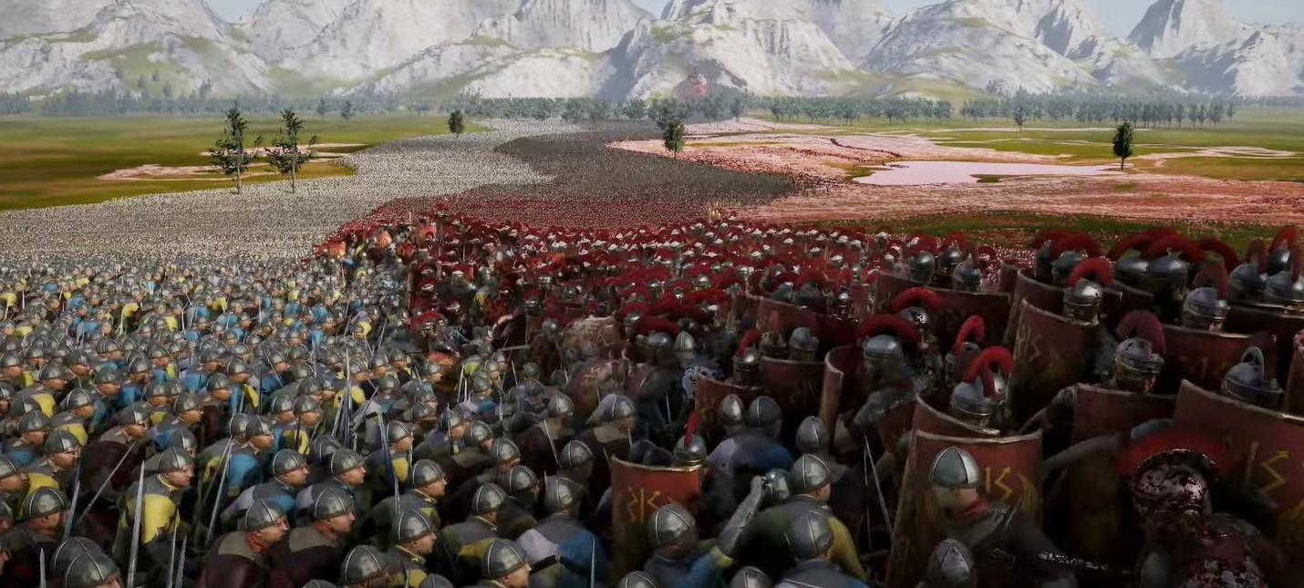 Римляне против рыцарей в новом геймплее Ultimate Epic Battle Simulator 2
