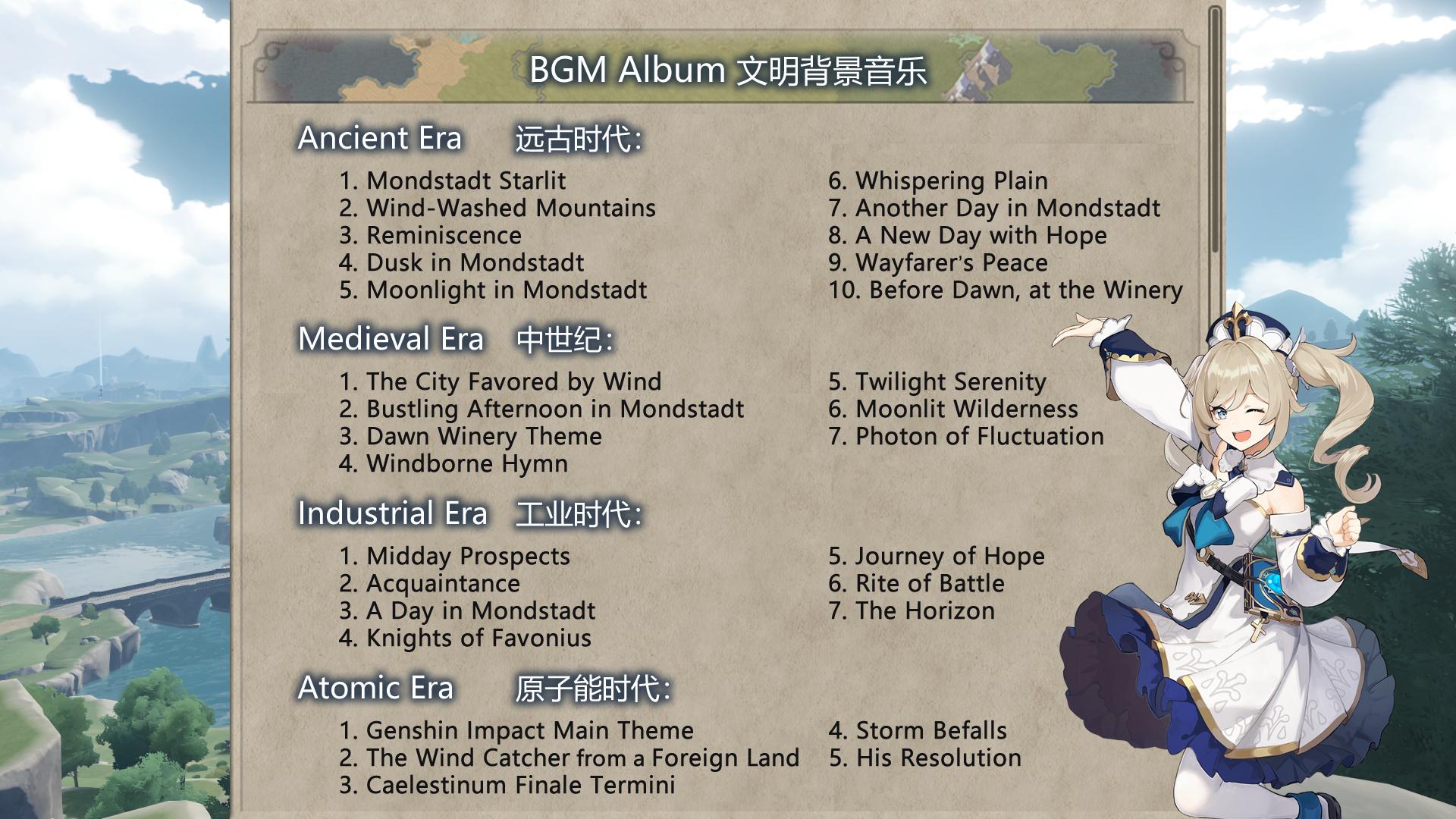 Этот мод добавляет в Civilization 6 Мондштадт из Genshin Impact