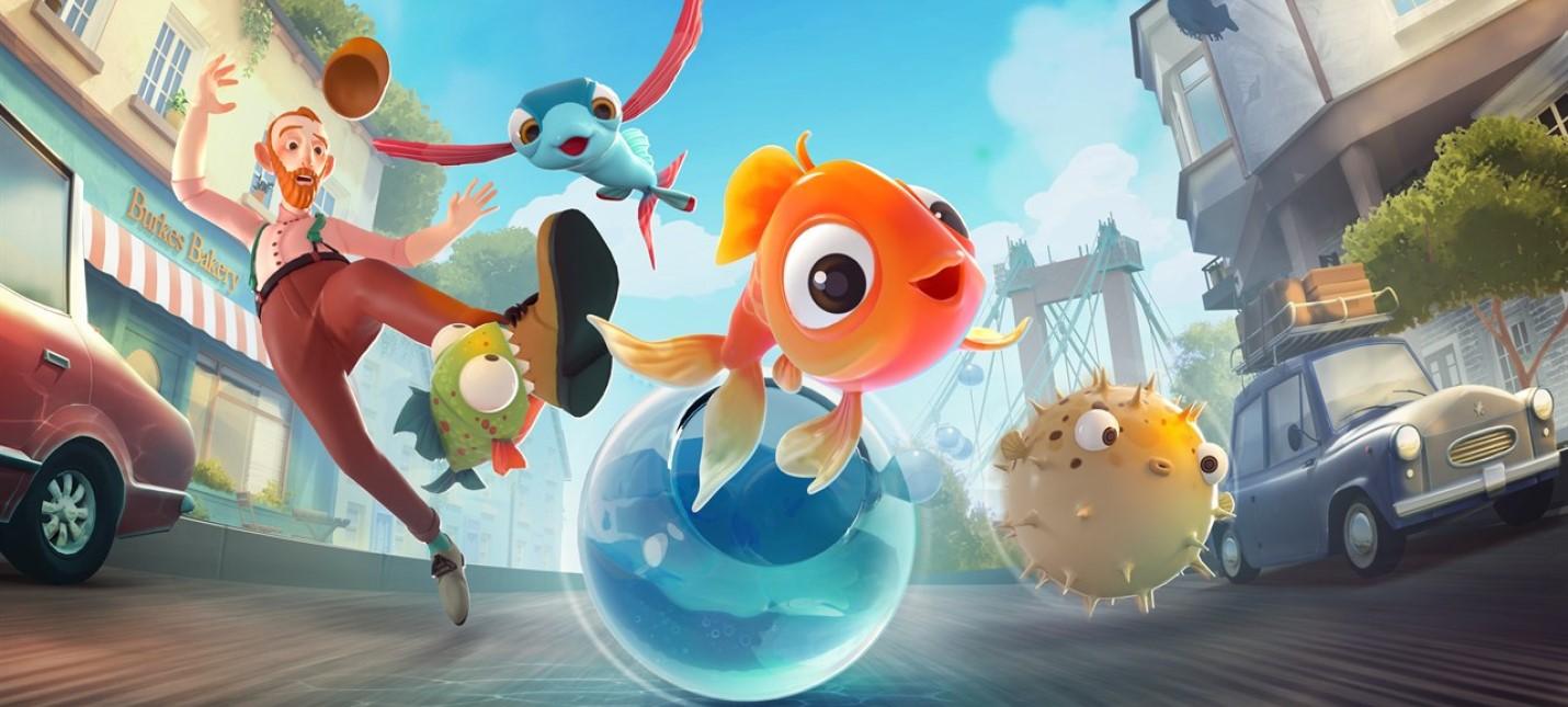 Побег рыбок из аквариума в геймплее I Am Fish