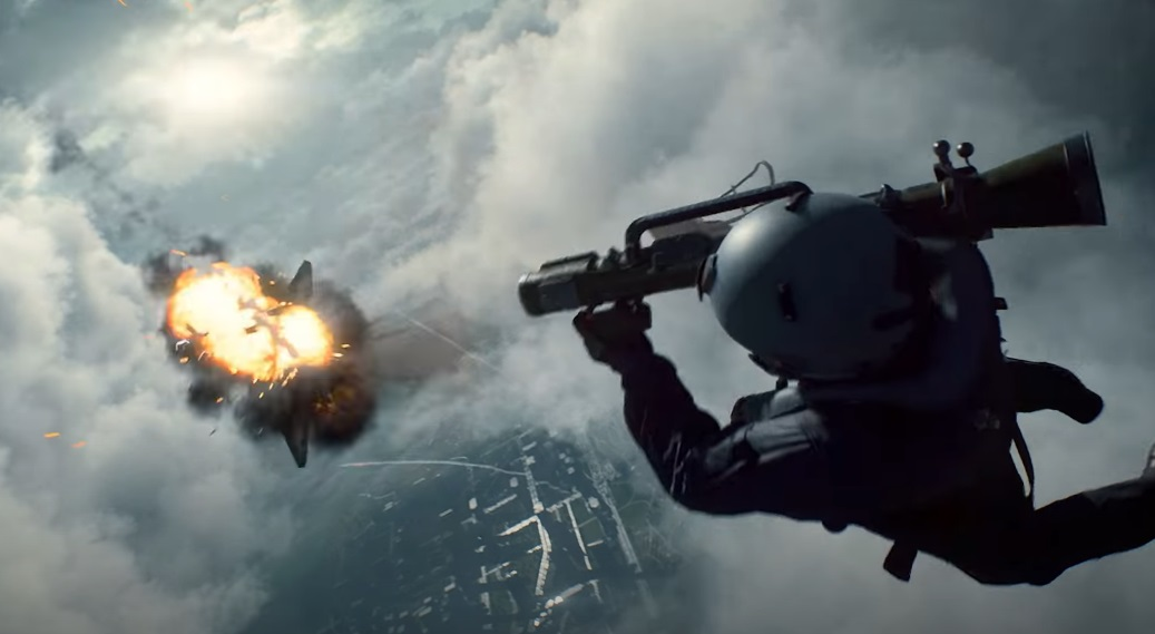 Сцена с самолетом из трейлера Battlefield 2042 — классика мультиплеера серии