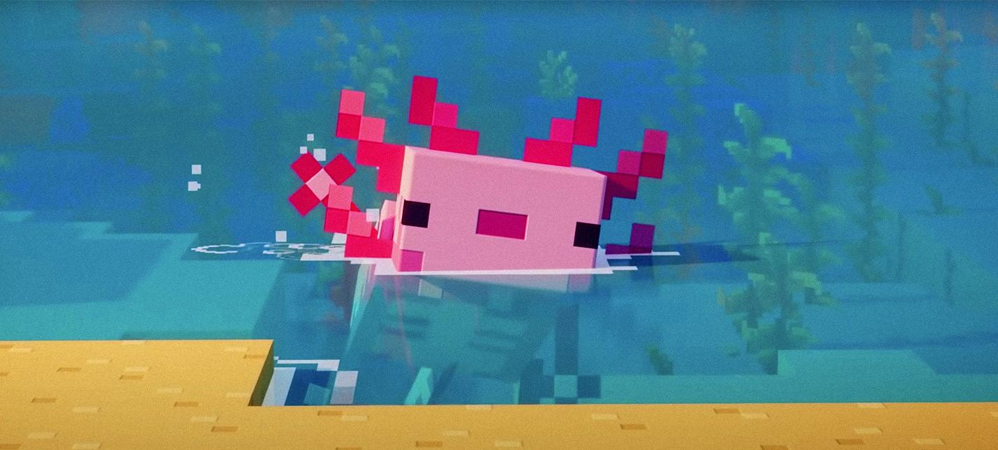 Все что нужно знать про аксолотлей в Minecraft