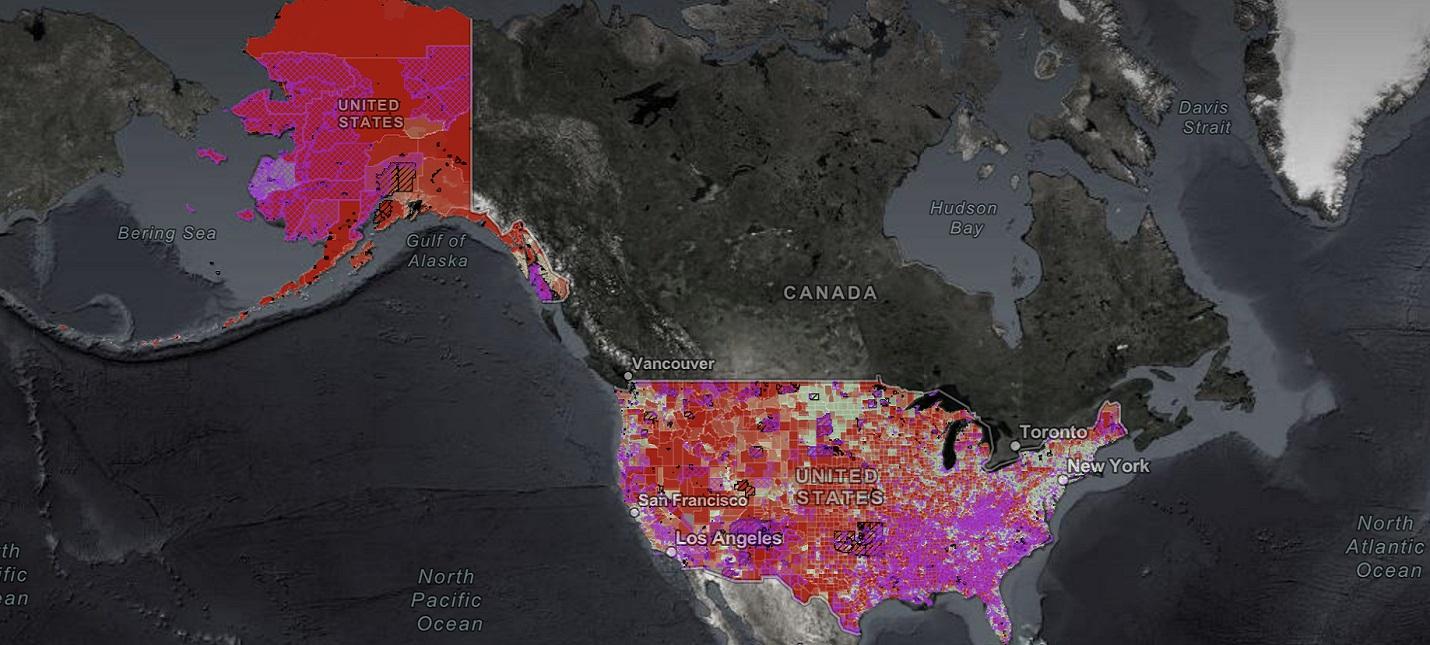 Эта интерактивная карта показывает, насколько паршивый в США Интернет
