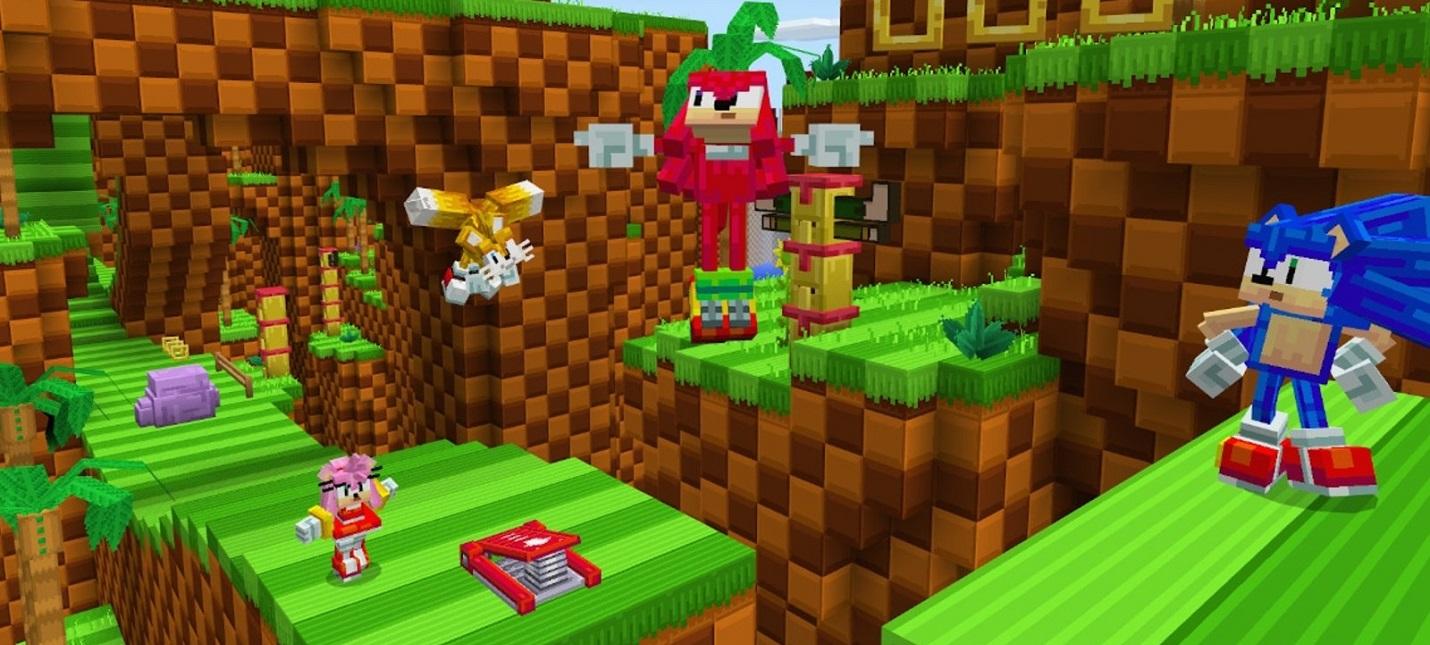 К Minecraft вышел аддон по мотивам Sonic the Hedgehog