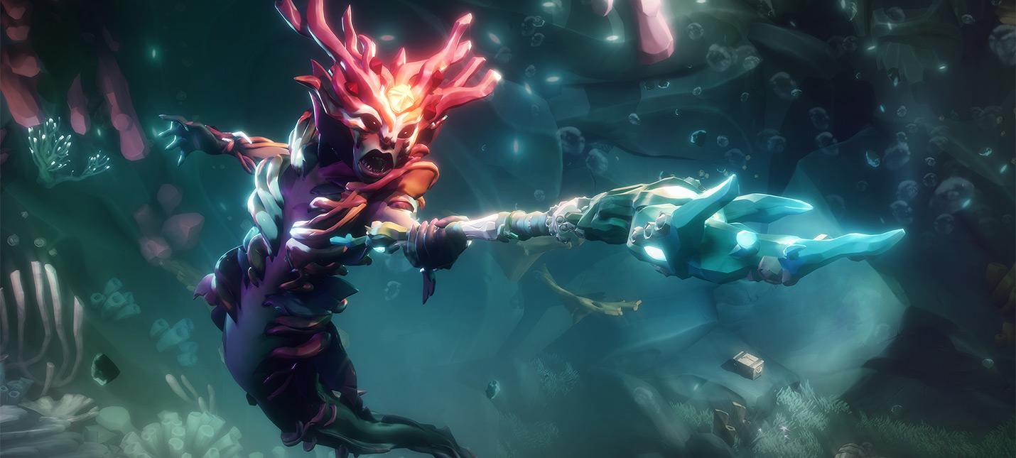 Игрок Sea of Thieves похвастался, как выбрасывает противника из игры при помощи новенького трезубца