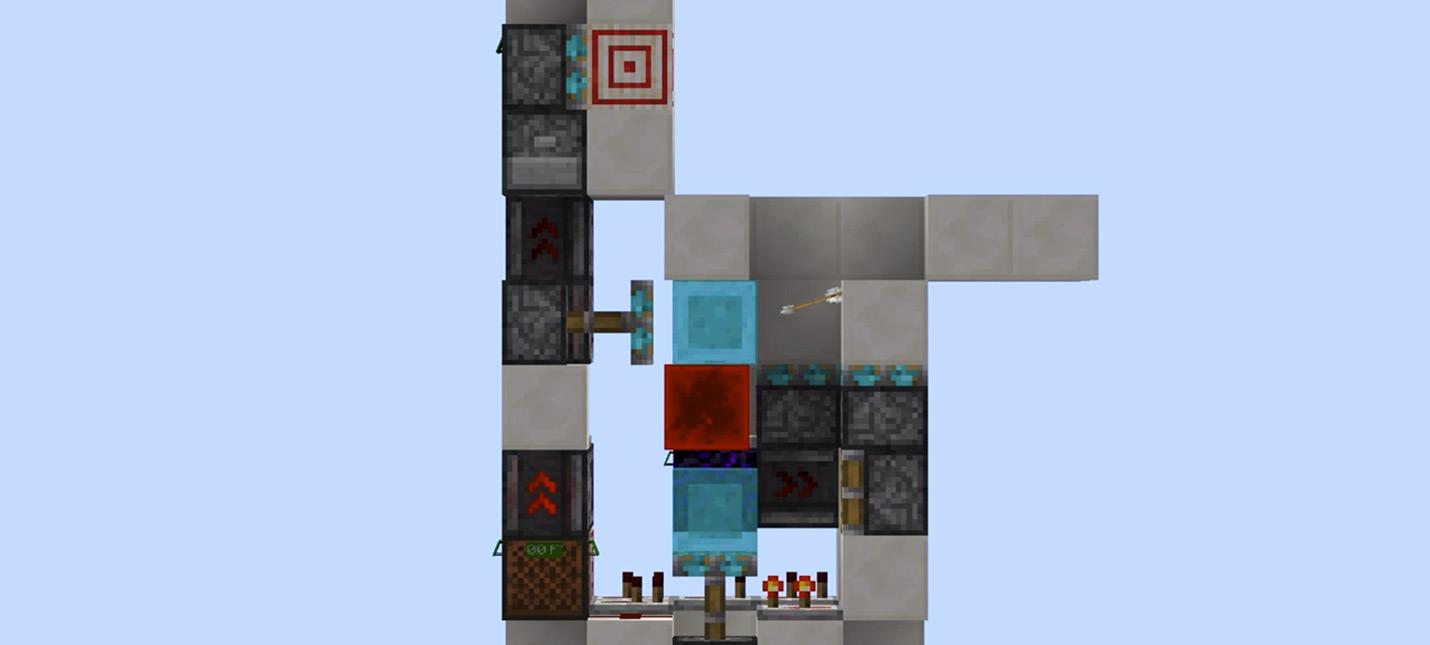 Игрок Minecraft создал механизм, который стреляет по персонажу его же выпущенной стрелой