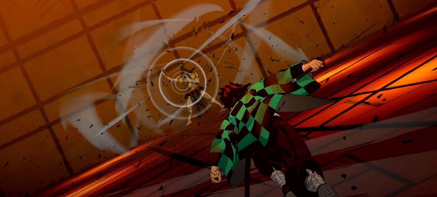 Сражение с демоном в геймплейном ролике Demon Slayer Kimetsu no Yaiba  The Hinokami Chronicles