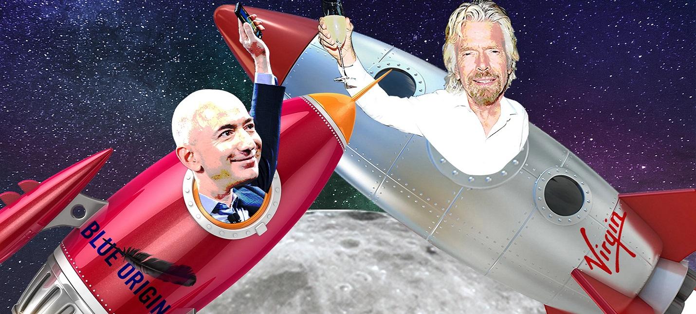 Компания Джеффа Безоса раскритиковала полет Ричарда Брэнсона
