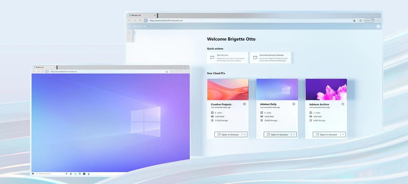 Windows 10 и 11 будут доступны в облаке при помощи сервиса Windows 365