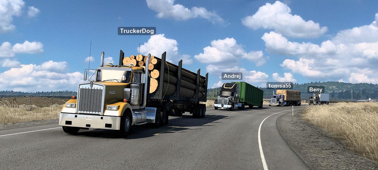 В American Truck Simulator и Euro Truck Simulator 2 добавили мультиплеерный режим