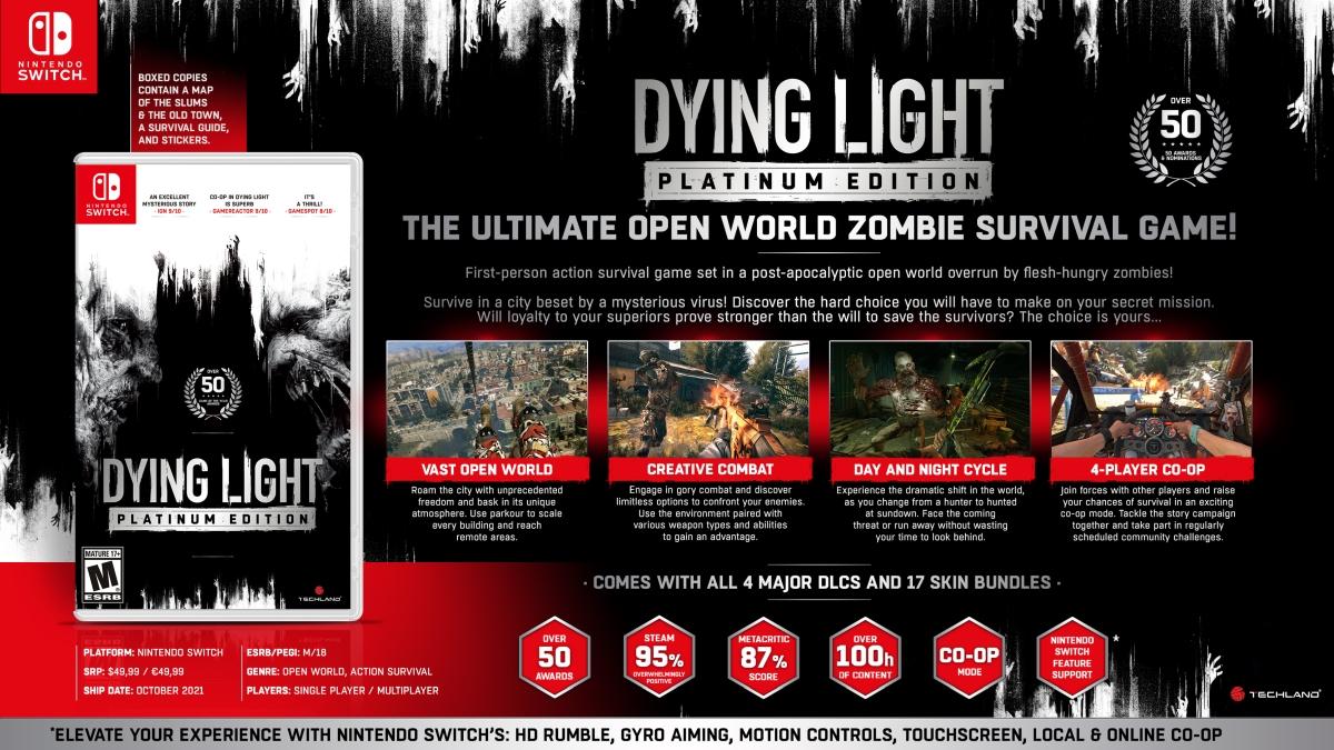СМИ: Dying Light Platinum Edition в октябре выйдет на Nintendo Switch