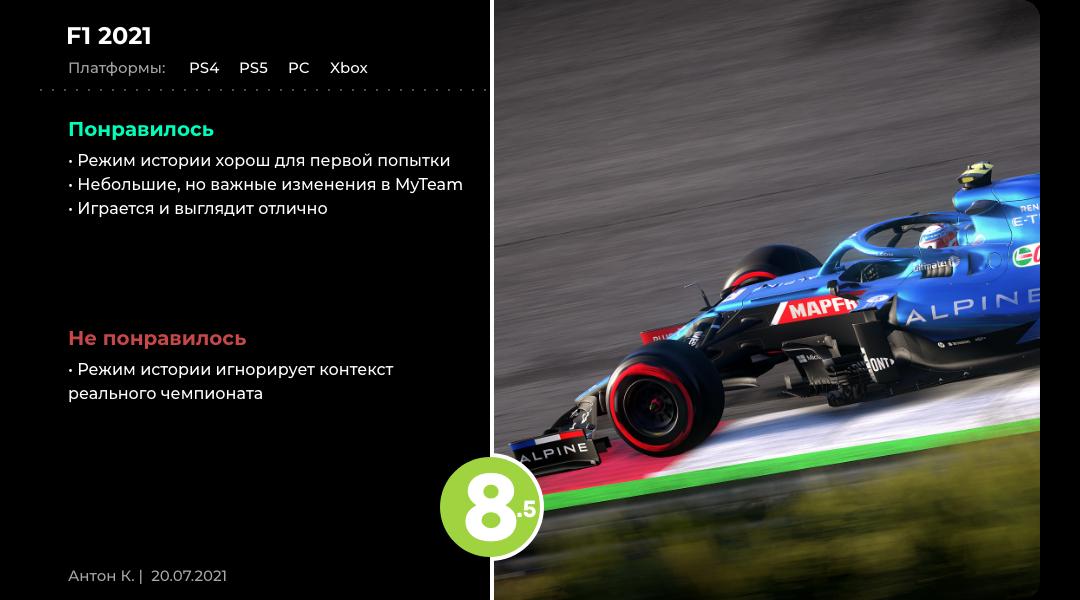 Уроки истории: Обзор F1 2021