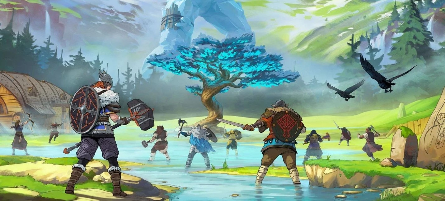 Сражения с гигантами и добыча ресурсов в релизном трейлере кооперативной Tribes of Midgard