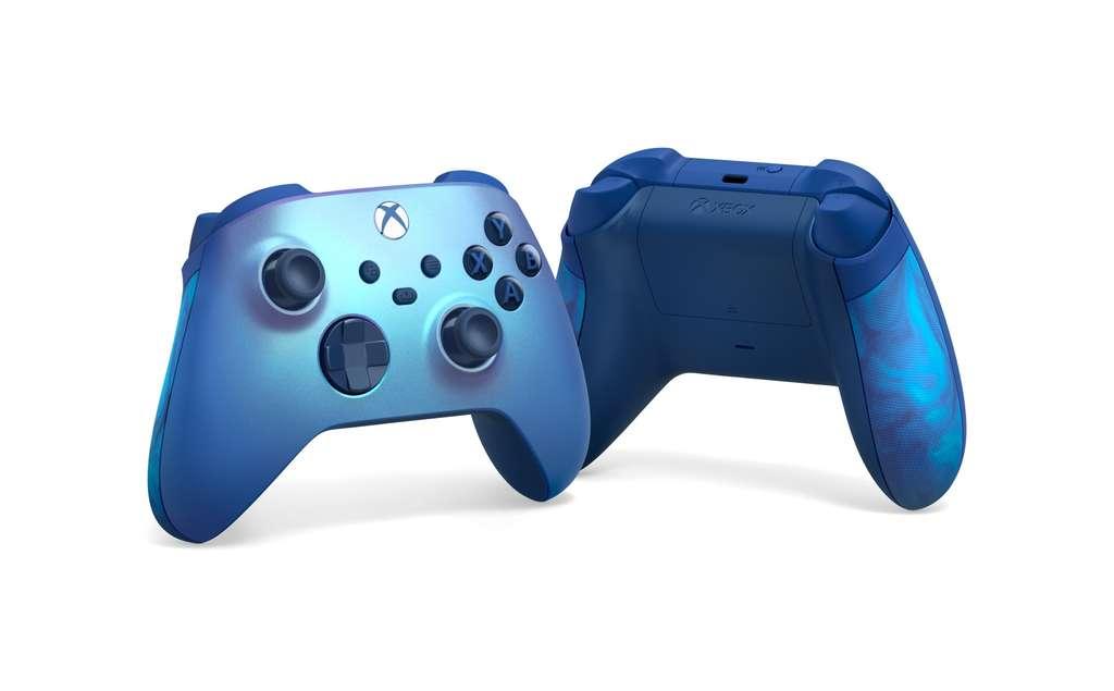 Microsoft анонсировала синий контроллер для Xbox с мерцающим эффектом