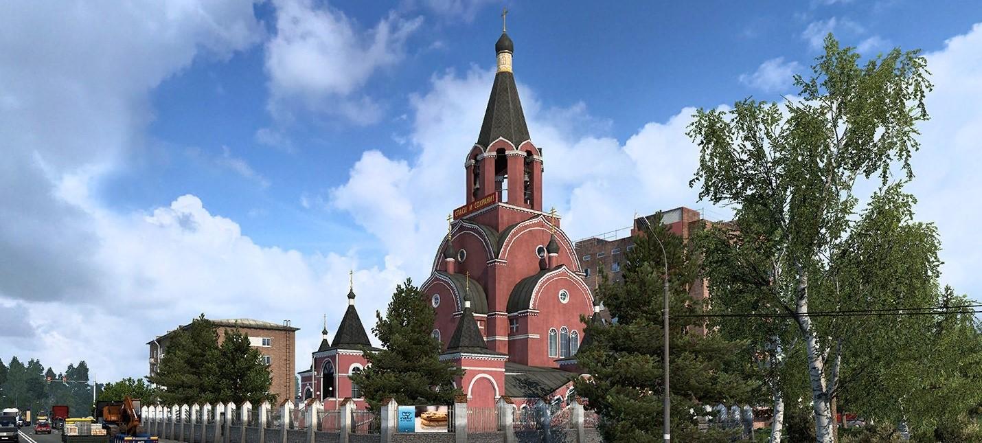 Скриншоты с населенными пунктами из дополнения Сердце России для Euro Truck Simulator 2
