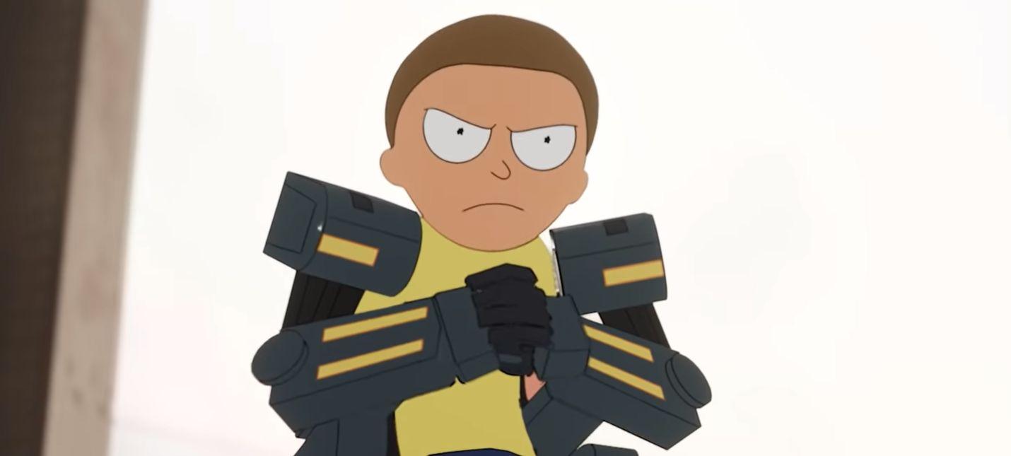 На помощь Рику в Fortnite ворвался Морти в меха-костюме