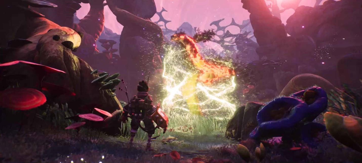 Красочная планета в трейлере The Gunk — консольного эксклюзива Xbox