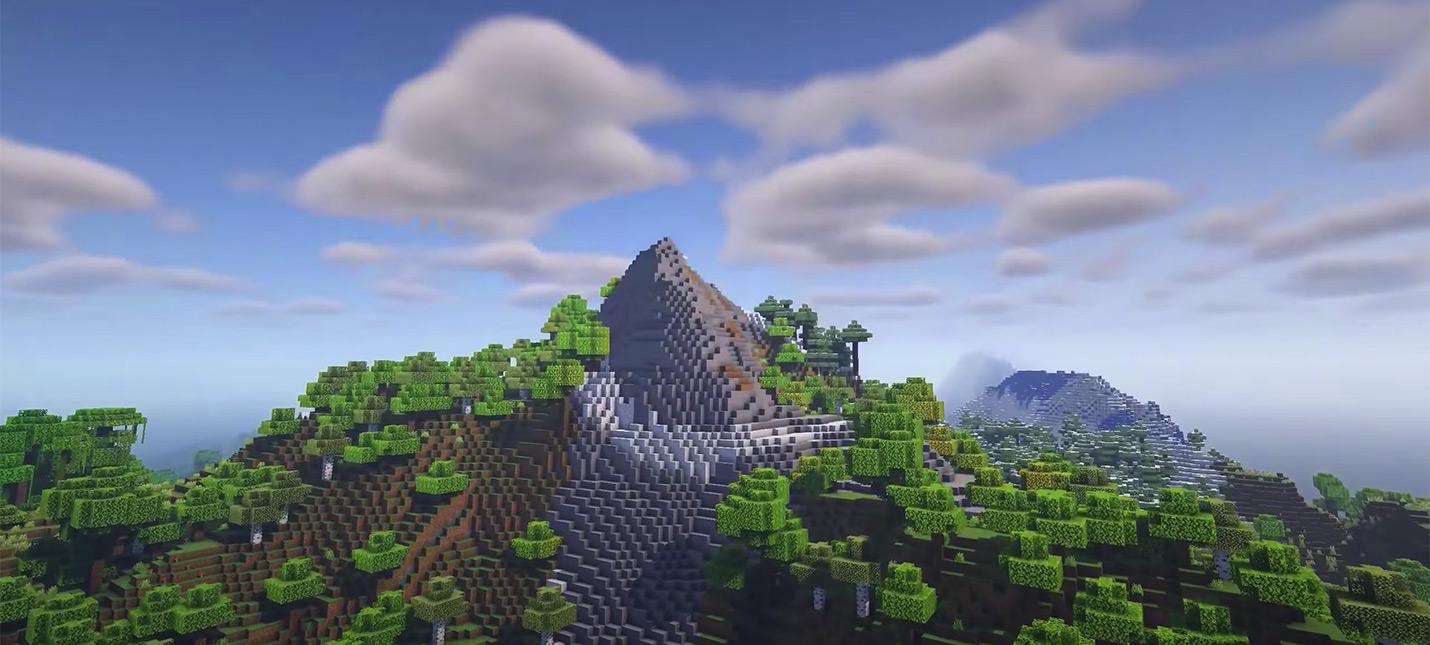 В тестовой версии Minecraft 1.18 горы и болота тоже стали лучше