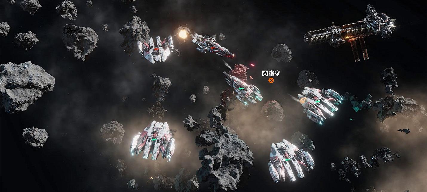 5 минут игрового процесса космической стратегии Falling Frontier
