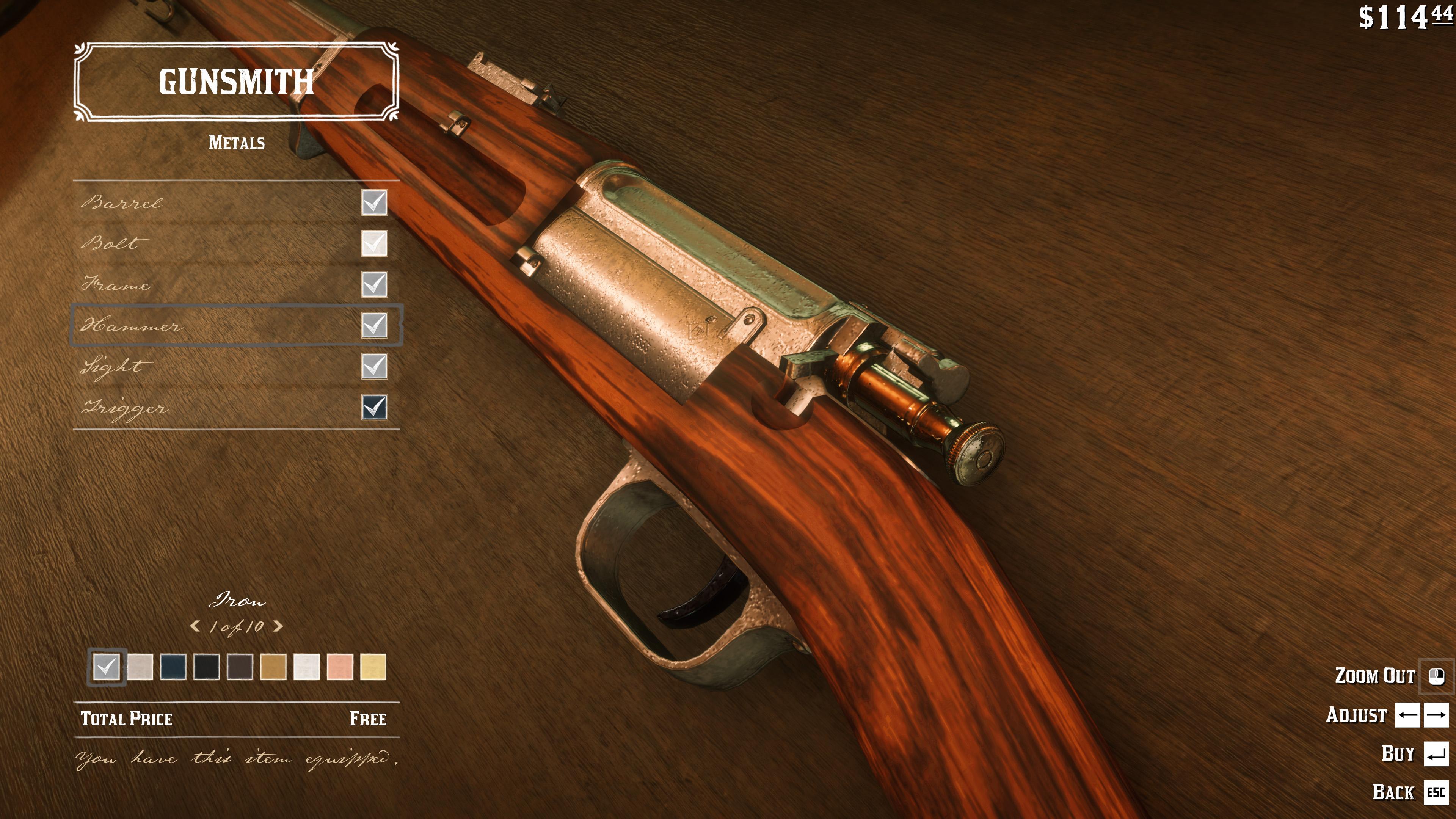 Red Dead Redemption 2 получила мод, улучшающий текстуры всех видов оружия