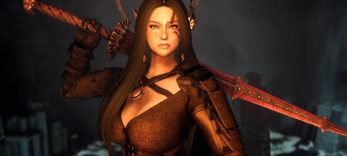 Энтузиаст решил превратить Skyrim в Dark Souls с помощью 500 модов
