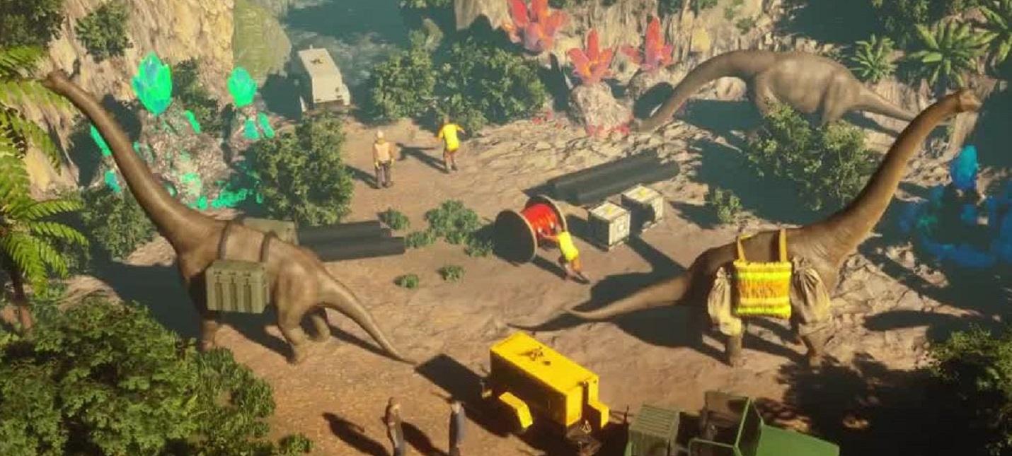 Динозавры-строители и спасение человечества в Юрском периоде в первом трейлере стратегии Jurassic Architect