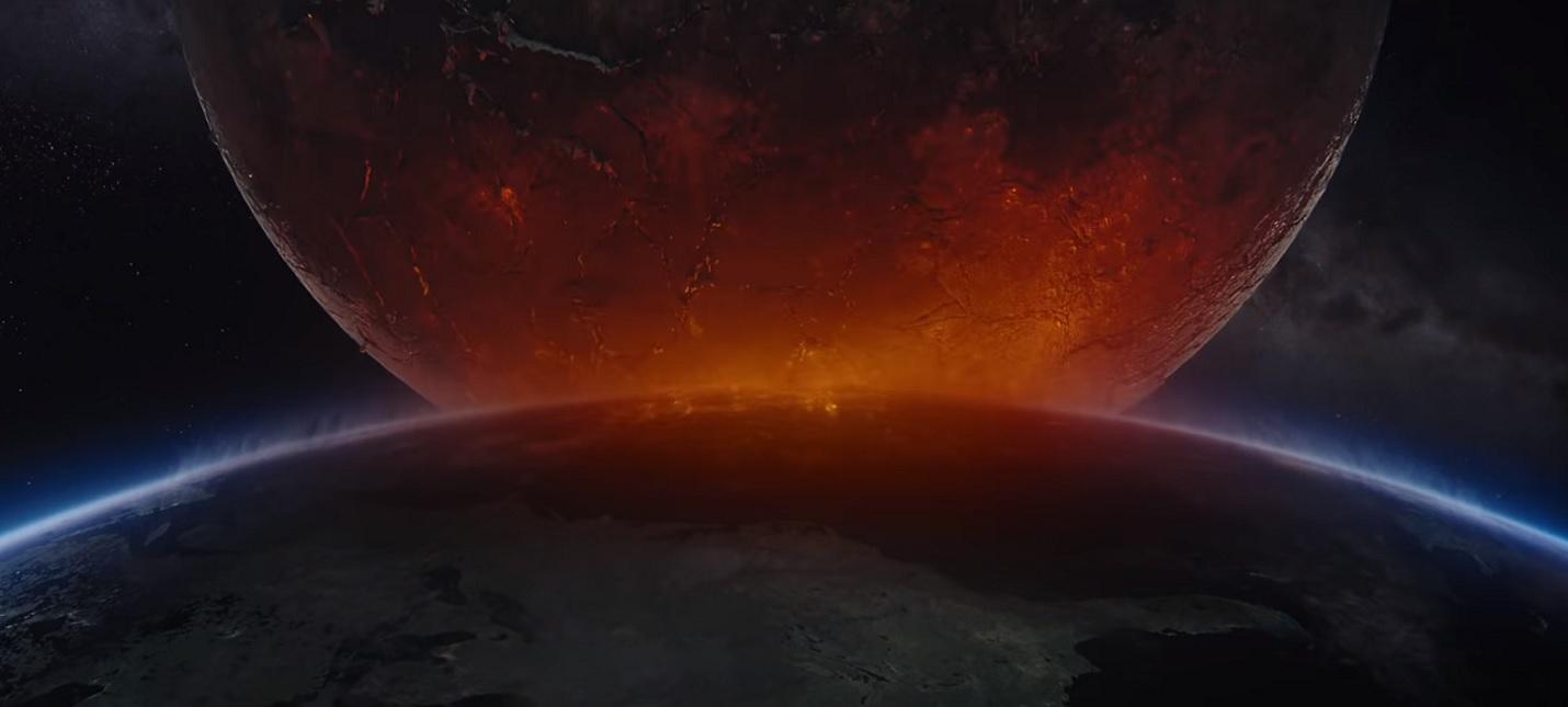 Глобальная катастрофа в тизере Падения Луны Роланда Эммериха