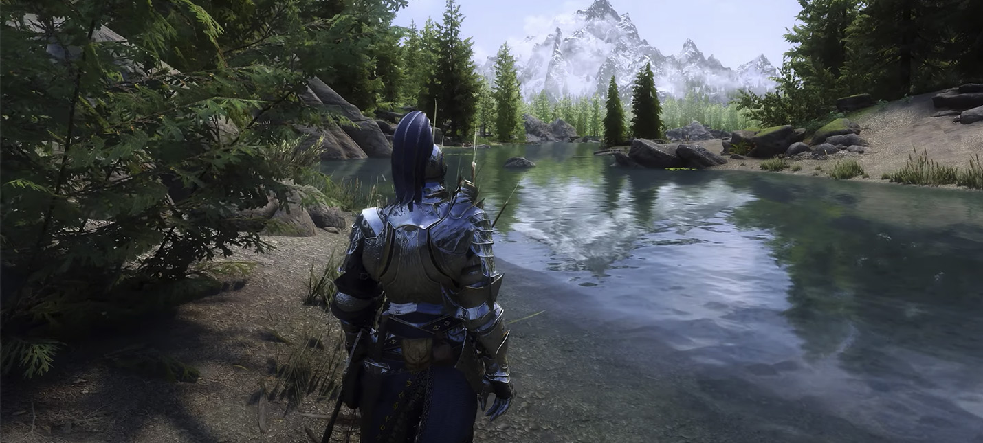 Вот как выглядит Skyrim с 1200 модами в 4K