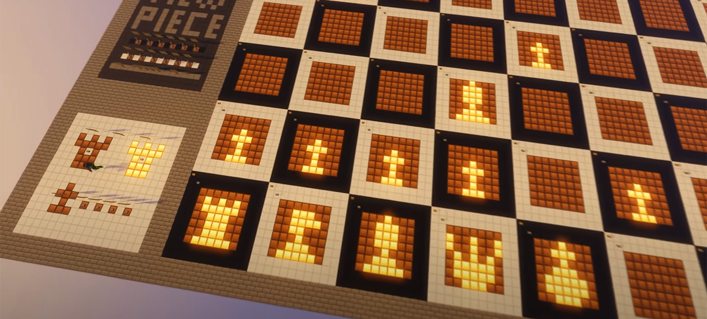 Игрок Minecraft воссоздал цифровые шахматы при помощи красного камня