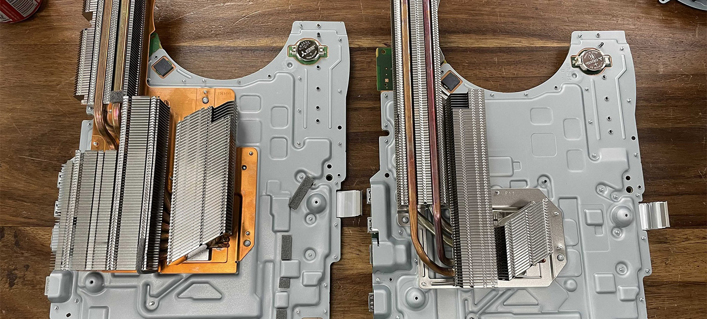 Уменьшенный радиатор новой PS5 работает эффективнее оригинального