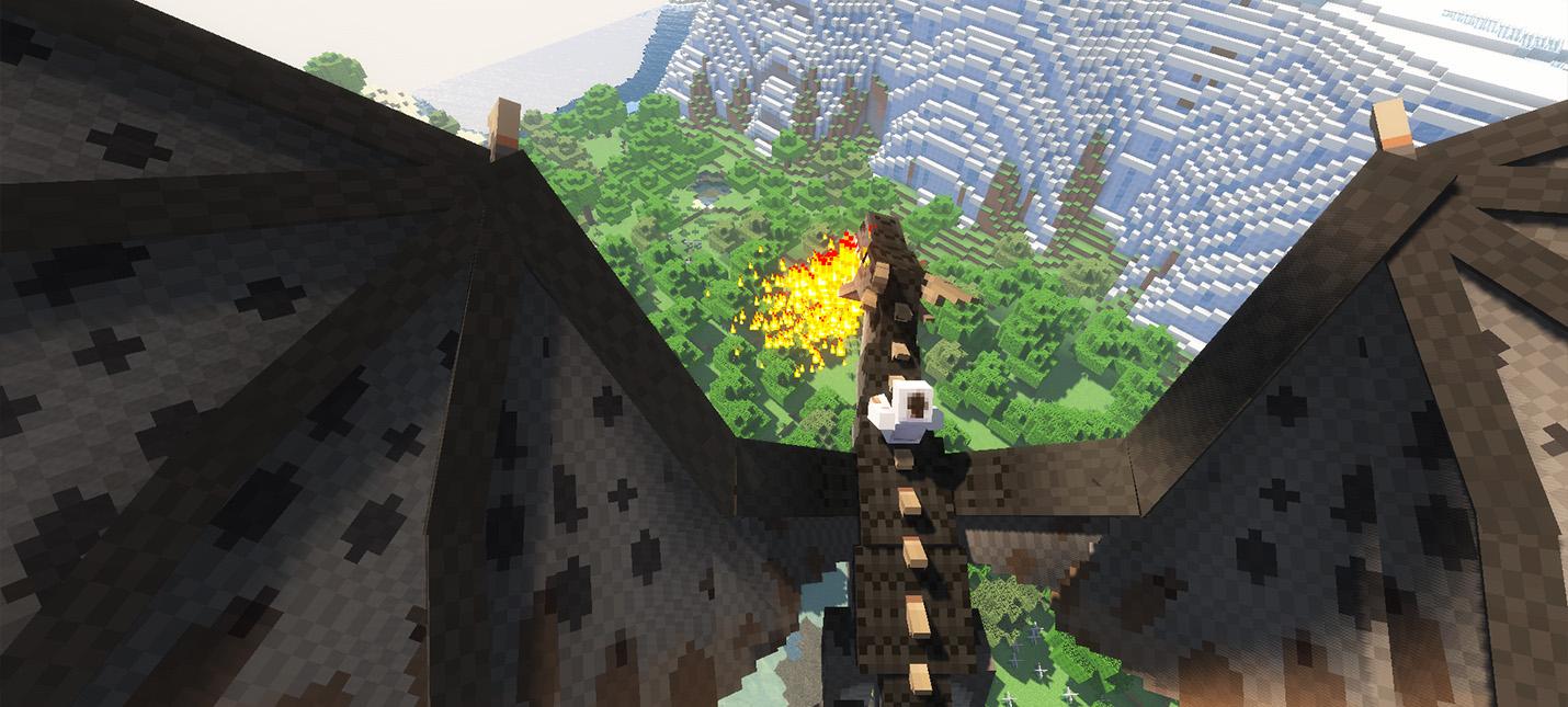 Драконы, гидры и черви смерти в новом моде для Minecraft