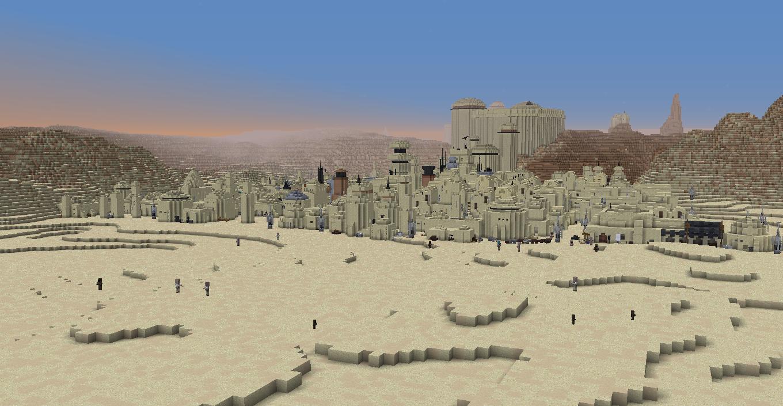 """Энтузиаст воссоздаёт планеты из """"Звёздных войн"""" в Minecraft"""