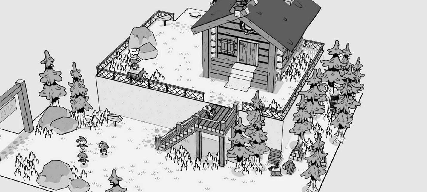 Приключения в уникальном черно-белом мире в геймплее инди Toem