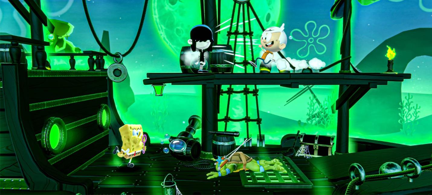 В новом геймплее файтинга Nickelodeon All-Star Brawl показали Патрика и Котопса