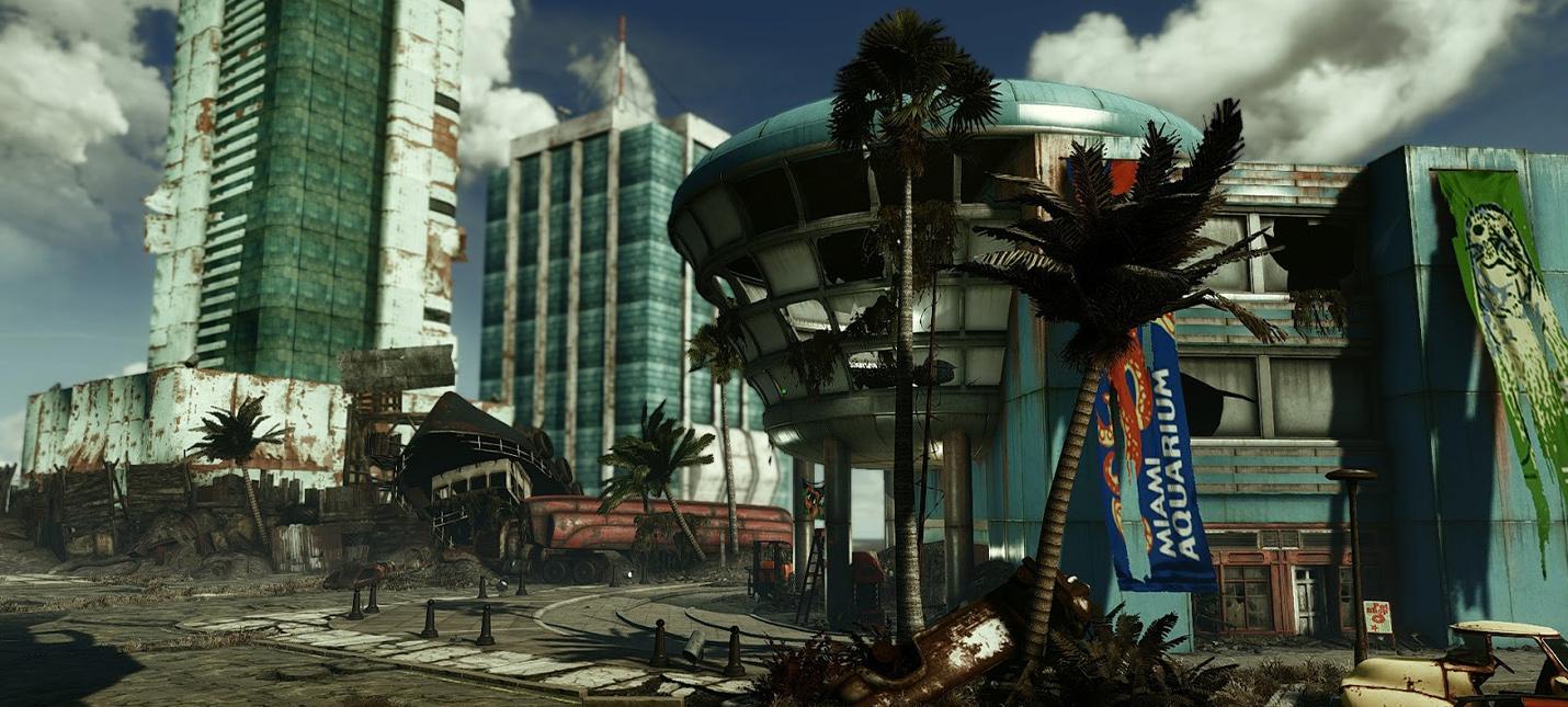 Свежие геймплейные кадры, концепты и музыка в трейлере модификации Fallout: Miami