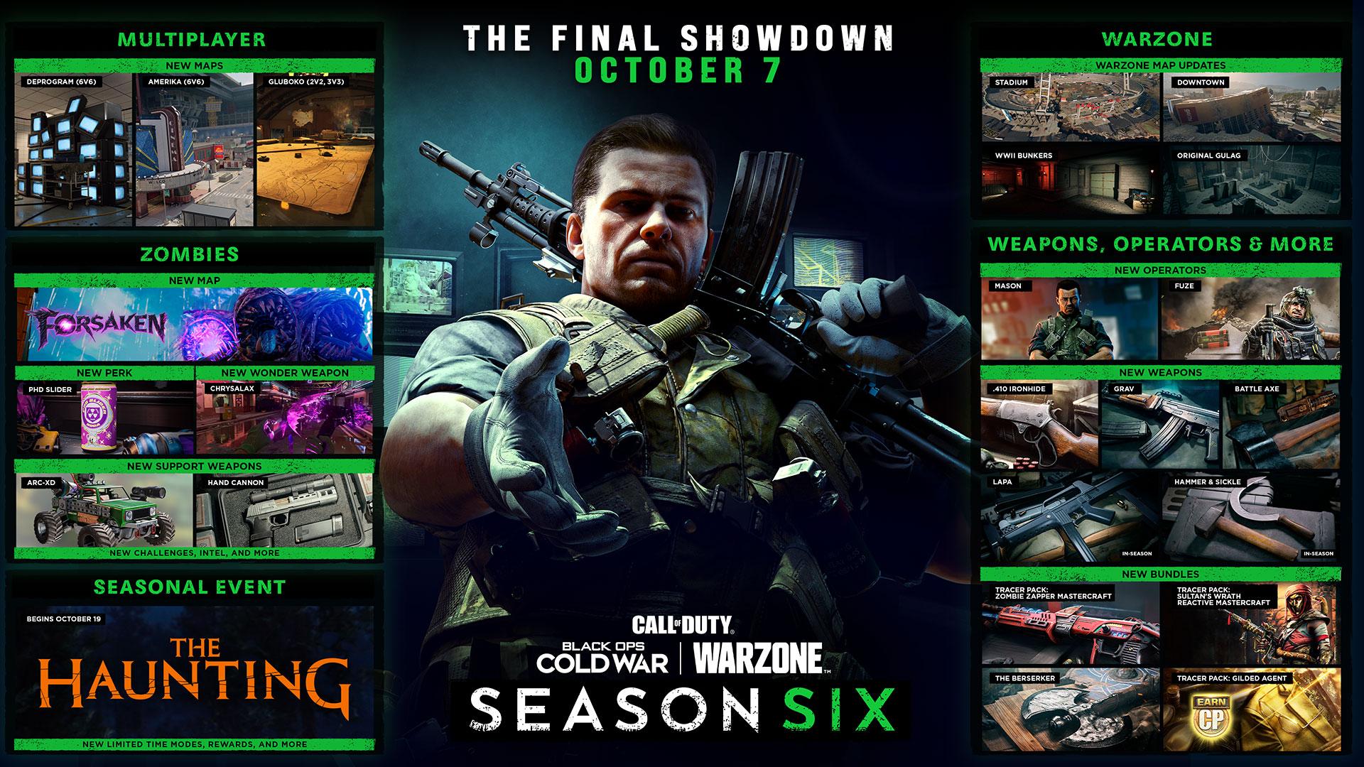 Новая зомби-карта и обновление Верданска — детали контента шестого сезона Black Ops Cold War и Warzone