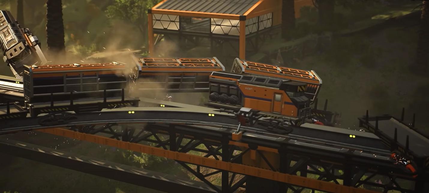 Обновление Satisfactory добавит в игру столкновения поездов