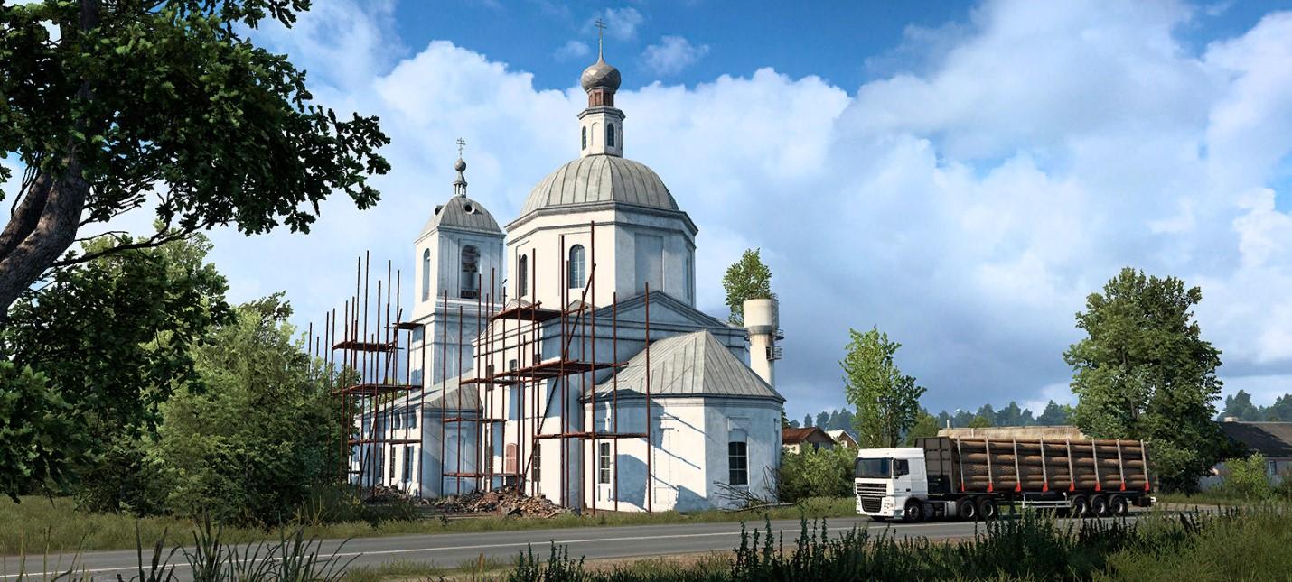 """Разработчики дополнения """"Сердце России"""" для Euro Truck Simulator рассказали про церкви и храмы"""