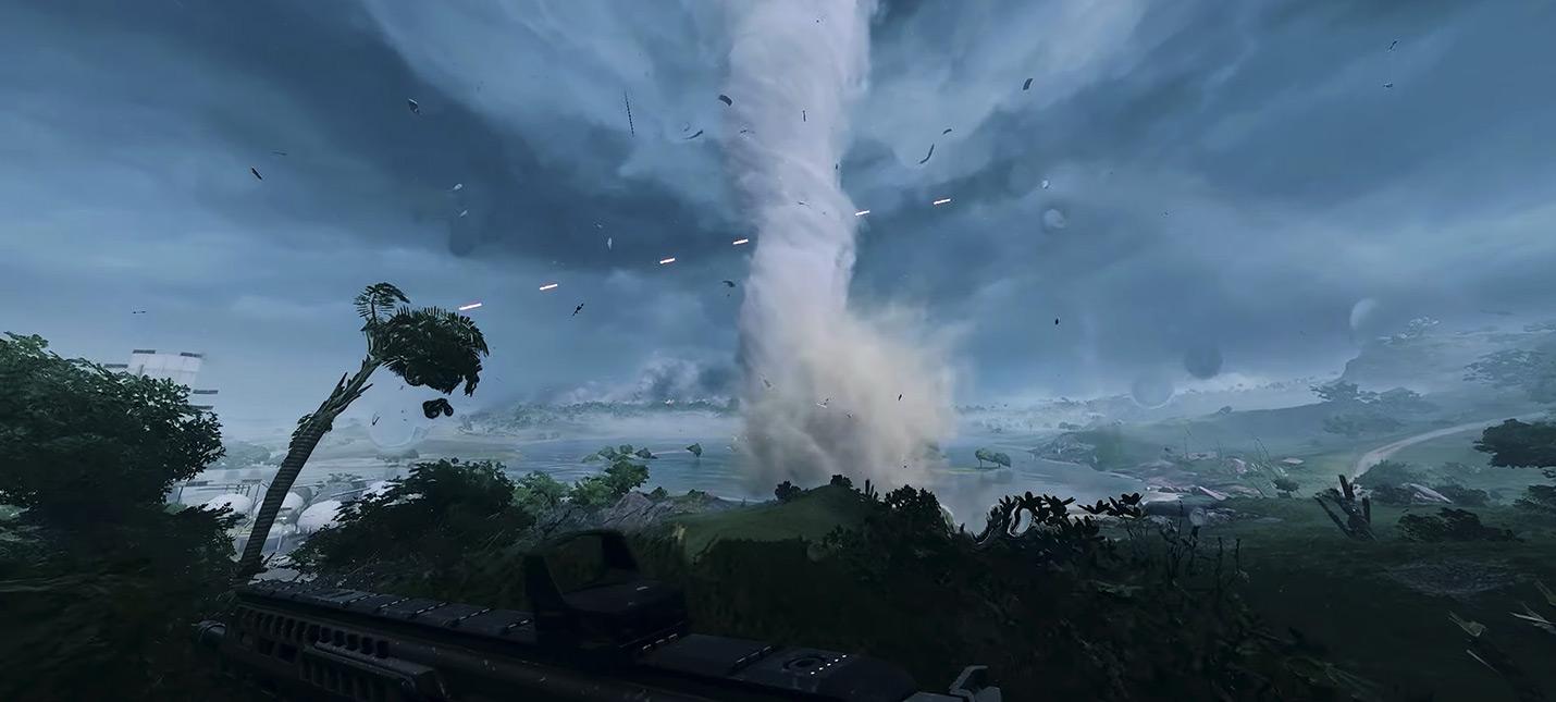 """Много геймплея Battlefield 2042 из беты — """"Космодром"""" и торнадо в 4К"""