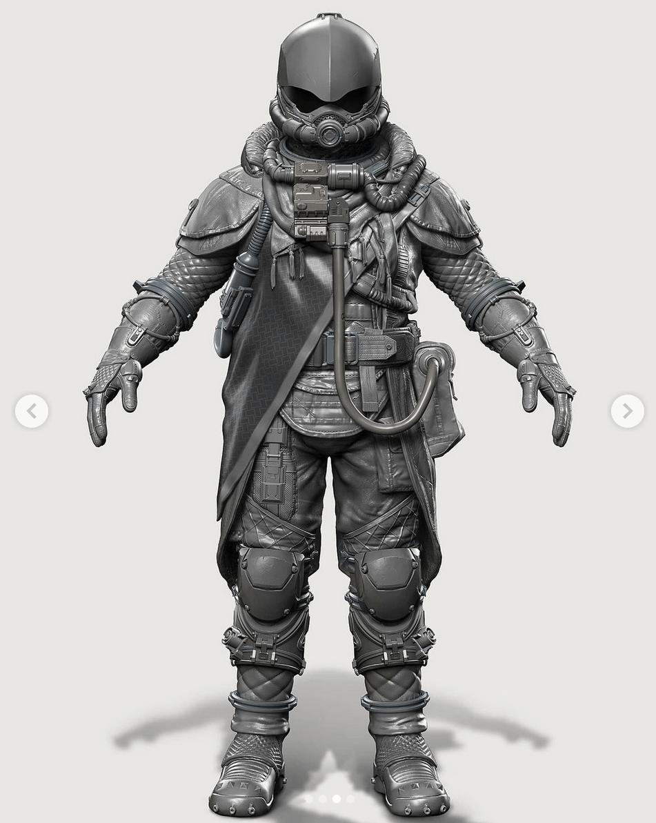 Посмотрите на фанатские 3D-модели космических костюмов из Starfield