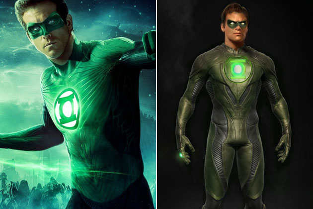 Man of steel and dark knight and green lantern