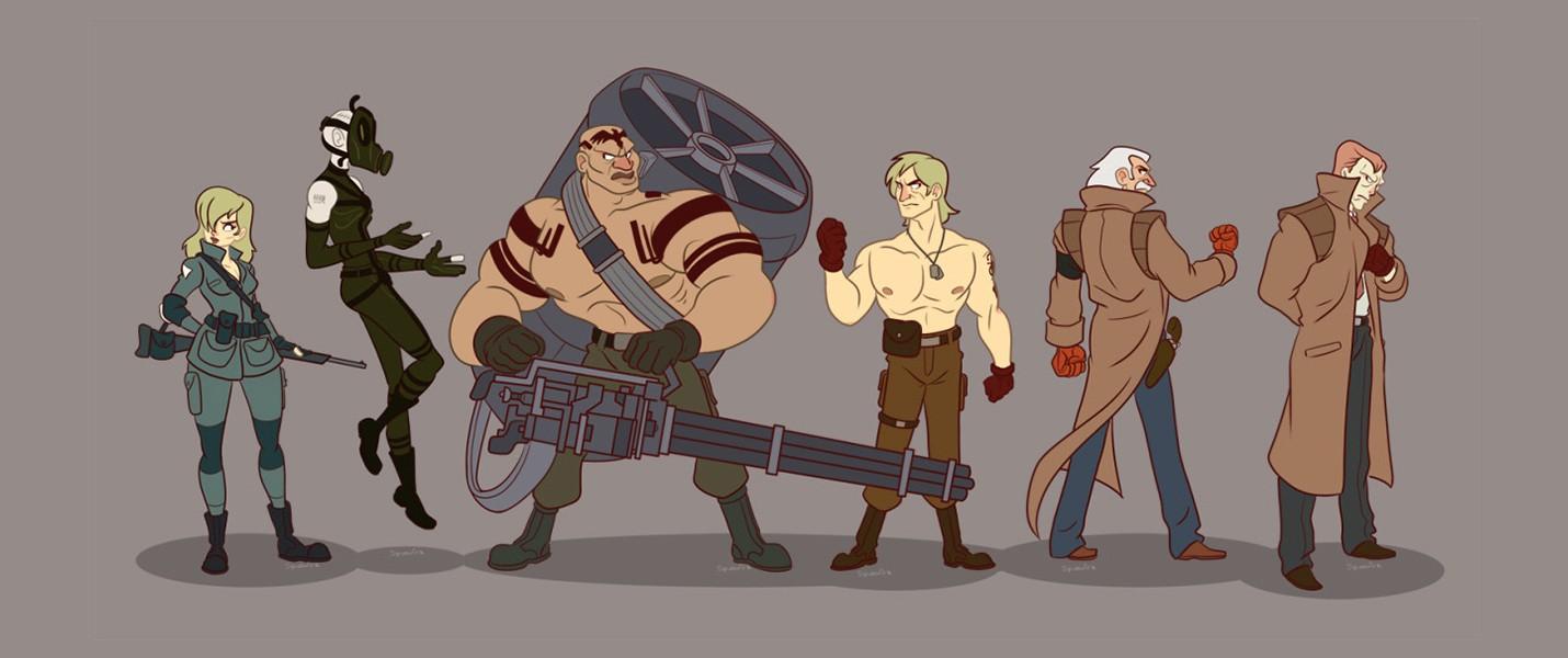 Персонажи Metal Gear Solid в мультяшном стиле