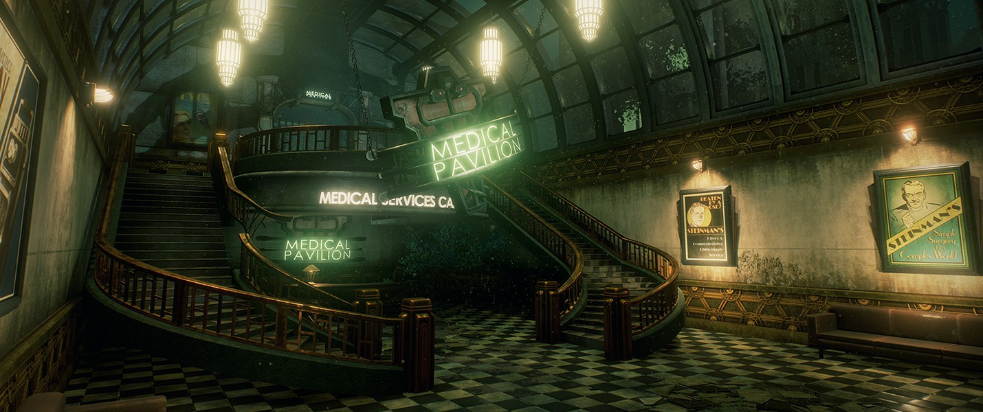 Медицинский павильон BioShock воссоздан на Unreal Engine 4