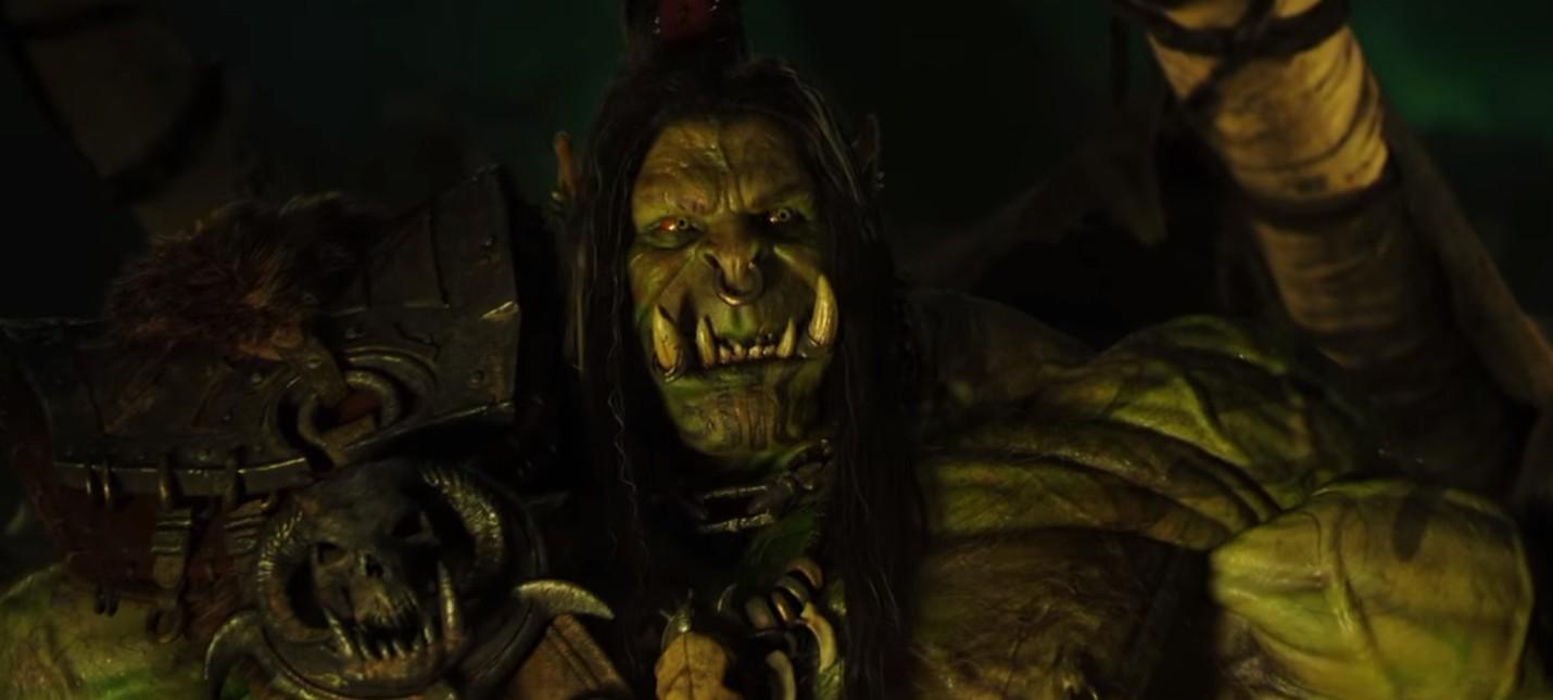 Дуротан и Оргрим обсуждают Скверну в вырезанной сцене Warcraft