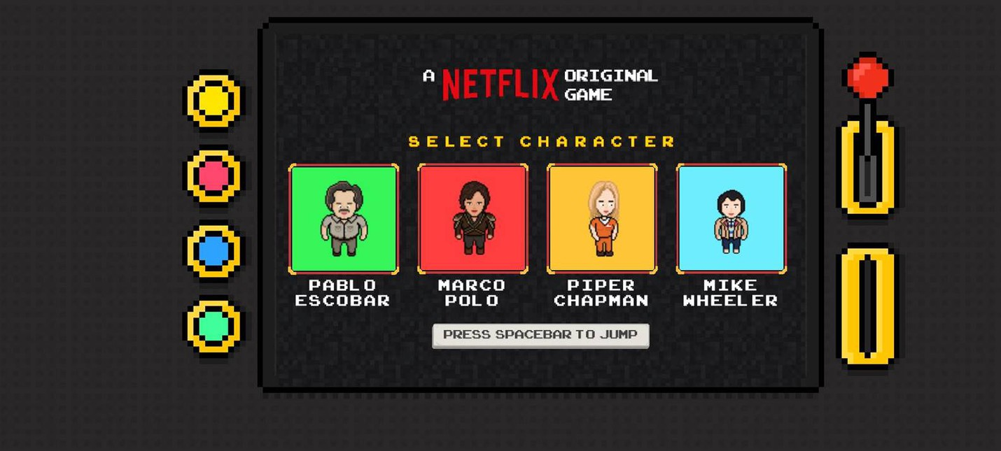 Flix Arcade — раннер по мотивам сериалов Netflix