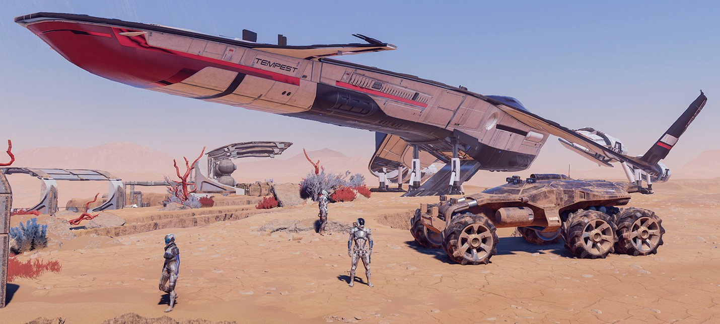 """Mass Effect Andromeda: новые детали корабля """"Буря"""" и транспортера """"Кочевник"""" уже завтра"""