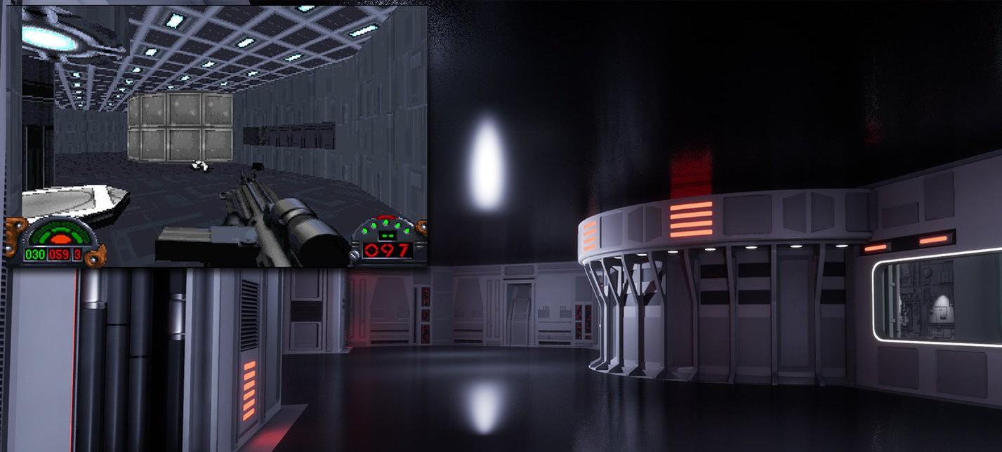 Первый уровень Star Wars: Dark Forces на движке Unreal Engine 4