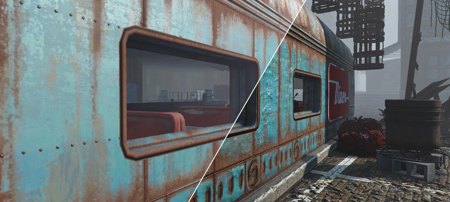 Потрепанный Fallout 4 с этим текстурным модом
