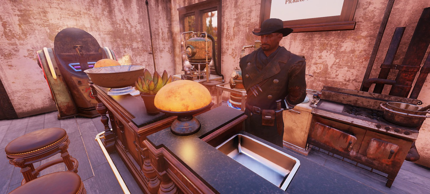 Игрок Fallout 76 открыл таверну для встреч перед первым рейдом